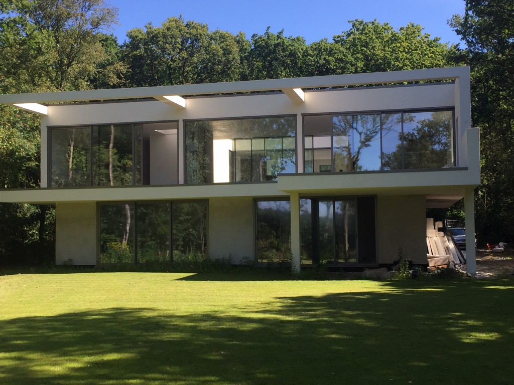 The building of the villa in Bergen is finished